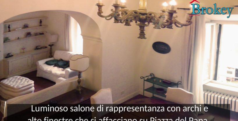 Appartamento in palazzo storico di Piazza del Papa – Storia, classe ed eleganza senza tempo