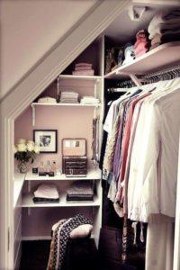 cabina armadio in spazi piccoli