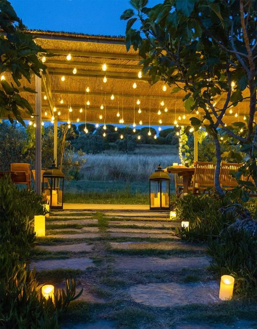 Le luci da esterno per illuminare il giardino e il for Luci da giardino