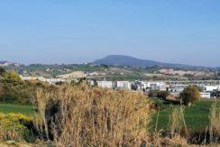 Lotto edificabile in posizione panoramica di Ancona, zona Candia, vista sul Conero