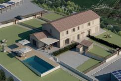 Porzione di casale di nuova costruzione con ampio giardino a Sirolo, zona Coppo